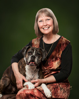 Author Susie Caron as featured on Mishael Austin Witty's Blue Brown Books blog.