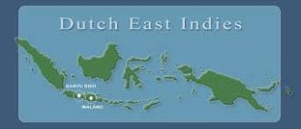 Map of the former Dutch East Indies, now Indonesia