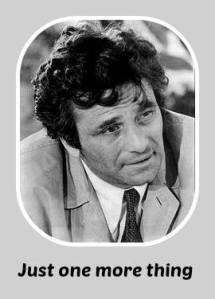 columbo just one more thing