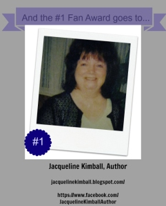 Jacqueline Kimball, Author #1 Fan